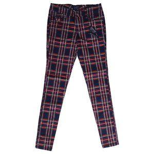Tripp NYC Punk Black Red Tartan Plaid Jeans Pants